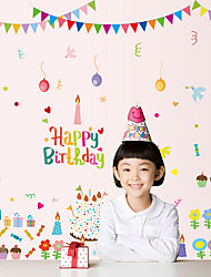 cheap -Happy Birthday Cake Party Children's Wall Stickers DIY Removable Wall Decals