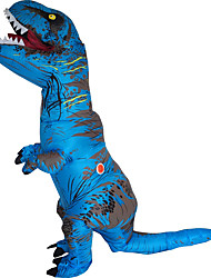 cheap -T-REX Costume Inflatable Dinosaur Costume Anime Expo Traje De Dinosaurio Inflable Blowup Disfraces Adultos Costume For Adult With Two Blowers Blue