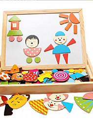 preiswerte -Mal-Spielzeug Zeichentische Bausteine Holzpuzzle Bildungsspielsachen Spielzeuge Quadratisch Holz Kinder Stücke