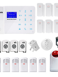 cheap -Danmini Wired Home Alarm Systems GSM Platform GSM SMS / Phone / Learning Code / Panel  Keyboard / Remote Controller 433Hz for