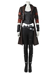 cheap -Gamora Cosplay Costume Party Costume Movie Cosplay Tops Vest Pants Belt Shoes T-shirt Wrist Brace Halloween Carnival Children's Day New