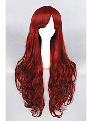 cheap -Synthetic Hair Wigs Curly Lolita Wig Cosplay Wig Long Red