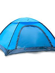 baratos -JUNGLEBOA® 2 Pessoas Barracas de Acampar Leves / Tenda Dobrada Único Poste Dome Barraca de acampamento Ao ar livre Portátil, Prova-de-Água, Á Prova de Humidade para Equitação / Campismo 1000-1500 mm