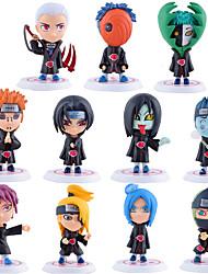 abordables -Las figuras de acción del anime Inspirado por Naruto Sasuke Uchiha PVC 7.5*7*6.5 CM Juegos de construcción muñeca de juguete