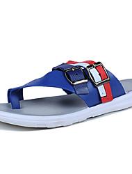 economico -Da uomo-Pantofole e infradito-Casual-Comoda-Piatto-PU (Poliuretano)-Bianco Nero Blu