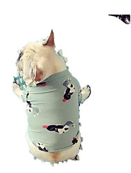 cheap -Dog Shirt / T-Shirt Dog Clothes Cute Casual/Daily Flower Light Green Costume For Pets