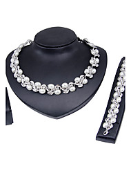 cheap -Women's Jewelry Set - Imitation Pearl, Silver Plated Classic, Fashion, Euramerican Include Silver For Christmas Gifts / Wedding / Party / Special Occasion / Anniversary / Birthday / Housewarming