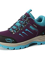 Camel Women's Outdoor Comfort Lace-up Hiking Anti-Skidding Shoes Color Light Grey/Purple