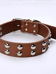 Pu colarinhos de cão de couro rebites de cogumelos studded colar de animais de estimação para cães de tamanho médio