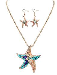 Set di gioielli Gioielli Originale Pendente stile sveglio Euramerican Fatto a mano Elasticizzato Gioielli di Lusso ResinaDi forma