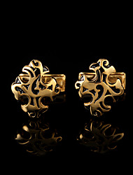 Запонка Галстук Заколка для галстука Медь Мода Подарочные коробки и сумки Запонки Золотой Серебряный 1 пара