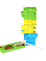 Building Blocks Board Game Jigsaw Puzzle Stacking Games Toys Square Animals Children's 1 Pieces