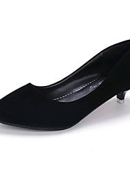 economico -Da donna-Tacchi-Tempo libero Ufficio e lavoro Casual-Club Shoes Scarpe formali-Basso-Scamosciato-