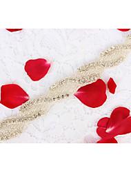Liga Casamento Festa/Noite Dia a Dia Faixa-Miçangas Apliques Pedraria Miçangas Apliques Pedraria