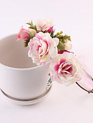cheap -Unisex Hair Accessories, All Seasons Cotton Headbands - Blue Blushing Pink