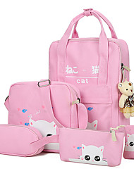 cheap -Women Bags Canvas School Bag for Casual Sports All Seasons Blue Green Black Pale Pink