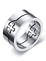cheap -Men's Ring - Stainless Steel Personalized, Basic, Simple Style 7 / 8 / 9 Silver For Party / Anniversary / Birthday