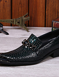 Недорогие -Муж. обувь Наппа Leather Весна Осень Формальная обувь Туфли на шнуровке для Повседневные на открытом воздухе Офис и карьера Для вечеринки