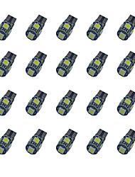 Недорогие -20pcs t10 расшифровывание 5 * 5050 smd chalkboard вело свет электрической лампочки dc12v электрической лампочки автомобиля