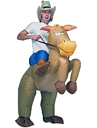 cheap -Riding A Donkey Cosplay Costume Halloween Props Masquerade Inflatable Costume Waterproof  Costume Movie Cosplay Leotard/Onesie Air Blower