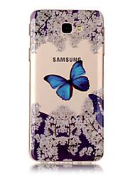 cheap -For Samsung Galaxy J7 J5 TPU Material IMD Process Blue Butterfly Pattern Phone Case J3 J7 Prime J3 Prime J710 J7 J510 J5 J310 J3