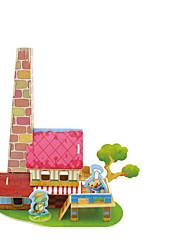 Недорогие -3D пазлы Деревянные пазлы Деревянные игрушки Наборы для моделирования Автомобиль Лошадь 3D Дерево 1pcs Детские Девочки Подарок