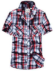 Недорогие -Муж. Рубашка для туризма и прогулок На открытом воздухе Дышащий Рубашка Верхняя часть Отдых и Туризм