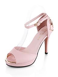 economico -Da donna Sandali Club Shoes Estate Autunno Vernice PU (Poliuretano) Matrimonio Casual Formale Fibbia Basso Plateau Bianco Nero Blu Rosa