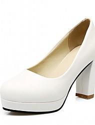 economico -Per donna Scarpe Finta pelle PU (Poliuretano) Estate Autunno Comoda Innovativo Club Shoes Scarpe formali Tacchi Footing Quadrato Punta