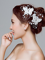 cheap -Lace Flowers Hair Tool Hair Clip 1 Wedding Special Occasion Outdoor Headpiece