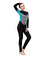 Per donna Tenere al caldo Resistente ai raggi UV Morbido Nylon Neoprene Scafandro Manica lunga Scafandri-Pesca Nuoto Immersioni Surf