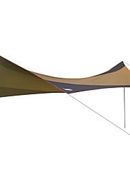 baratos -DesertFox® Abrigo para Acampamento / Abrigo e Lona Encerada Único Barraca de acampamento Ao ar livre Tenda Dobrada Prova-de-Água / Á