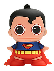 baratos -Novo cartoon criativo superman usb2.0 8gb flash drive u vara de memória do disco