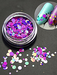 cheap -1Bottle Fashion Romantic Decoration Nail Art Round Slice Glitter Paillette Slice Colorful Laser Design P14