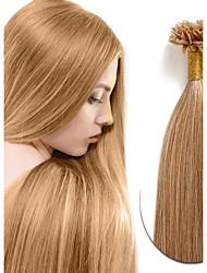 baratos -Febay Queratina / Ponta U Extensões de cabelo humano Liso Cabelo Humano