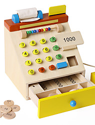 cheap -Grocery Shopping Money & Banking Toy Cash Register Toy Toys Wood Children's 1 Pieces