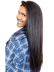 Front Lace Wigs Silk Straight Indian Virgin Human Hair Wigs For Black Women With Baby Hair and Natural Hairline