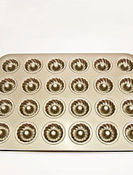 Big size 24 cups donut cake pan non stick cake mould FDA food garde carbon steel