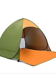 Недорогие -2 человека Тент для пляжа На открытом воздухе Водонепроницаемость, Компактность, С защитой от ветра Однослойный Палатка 1000-1500 mm для Пляж  Путешествия На открытом воздухе Нержавеющая сталь, Сетка