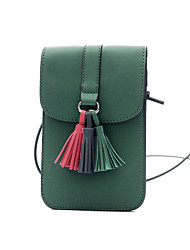 cheap -Women Bags PU Mobile Phone Bag for Casual Outdoor All Seasons Green Black Red Gray