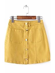 preiswerte -Damen Niedlich Lässig/Alltäglich Mini Röcke A-Linie Solide Sommer