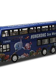 Модели автомобилей Игрушечные машинки Игрушки Строительная техника Игрушки Квадратный Автобус Металлический сплав Куски Подарок
