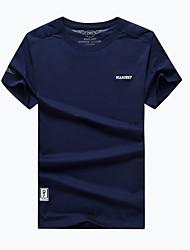 preiswerte -Herrn T-Shirt für Wanderer Rasche Trocknung Atmungsaktiv T-shirt Oberteile für Camping & Wandern Angeln Sommer L XL XXL XXXL XXXXL