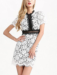cheap -Women's Daily Simple Lace Dress