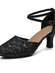 """Da donna Sneakers da danza moderna Sintetico Tacchi Per interni Tacco su misura Oro Nero Argento Grigio 1 """"- 1 3/4"""" 2 """"- 2 3/4"""""""