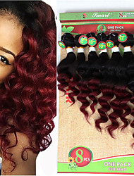 cheap -Braiding Hair Curly / Loose Wave Curly Braids / Hair Accessory / Human Hair Extensions Virgin Human Hair Hair Braids Crochet Braids Daily Brazilian Hair