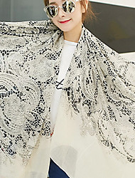 Korean Cotton and Linen Serpentine Scarves Shawl Thin Long Rectangle Print Women's