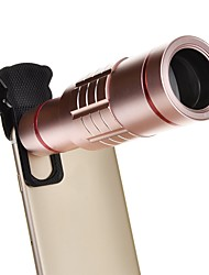 18X Universal Aluminum Optical Zoom with Mini Tripod Smartphone Metal Telescope Long Focus Lens -Pink