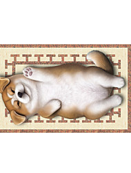 cheap -Lovely Dog 3D Stickers The Floor Tile Individuality Decorative Carpet Decal for The Bathroom Or The Living Room