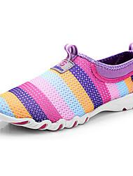 Women's Loafers & Slip-Ons  Comfort Light Soles Tulle Outdoor CasualFlat Heel Fuchsia Purple Gray Walking Shoes